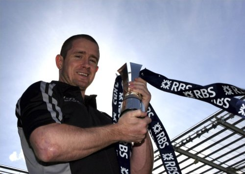 Shane Williams, receiving last year's accolade - © Getty Images for RBS