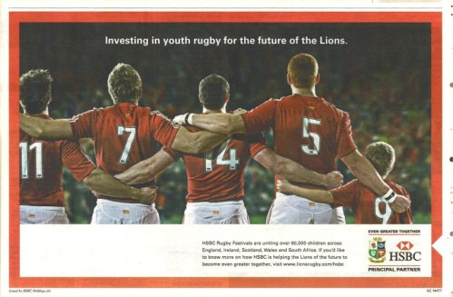 HSBC youth rugby ad