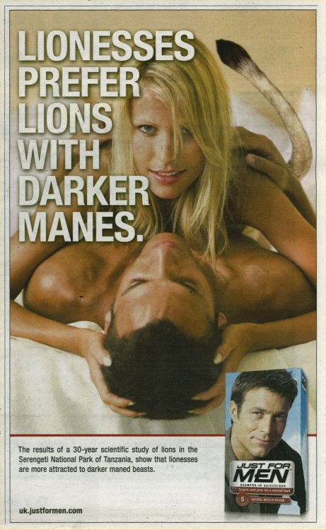 Lions Just for men ad