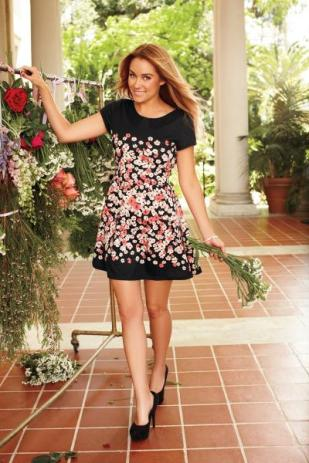 LC Lauren Conrad floral ponte dress